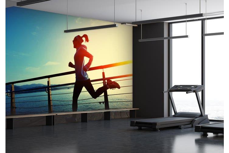 3D Morning Run 064 Wall Murals Woven paper (need glue), XXXL 416cm x 254cm (WxH)(164''x100'')