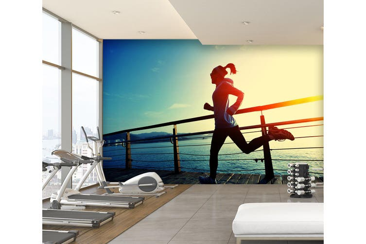 3D Morning Run 064 Wall Murals Woven paper (need glue), XXXXL 520cm x 290cm (WxH)(205''x114'')