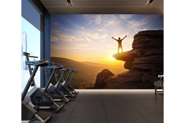 3D Mountain Sunset 061 Wall Murals Woven paper (need glue), XXXL 416cm x 254cm (WxH)(164''x100'')