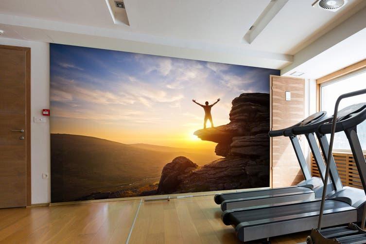 3D Mountain Sunset 061 Wall Murals Self-adhesive Vinyl, XXXL 416cm x 254cm (WxH)(164''x100'')