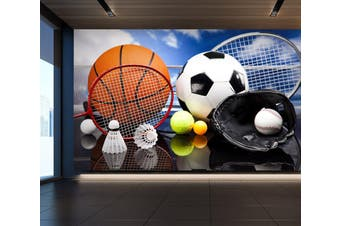 3D Ball Sports 059 Wall Murals Woven paper (need glue), XXL 312cm x 219cm (WxH)(123''x87'')