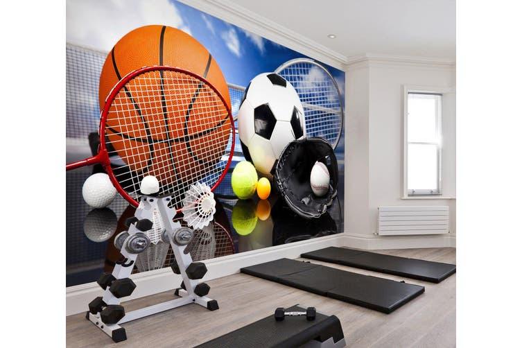3D Ball Sports 059 Wall Murals Self-adhesive Vinyl, XL 208cm x 146cm (WxH)(82''x58'')