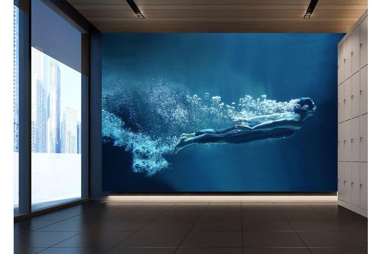 3D Submarine Diving 056 Wall Murals Woven paper (need glue), XL 208cm x 146cm (WxH)(82''x58'')