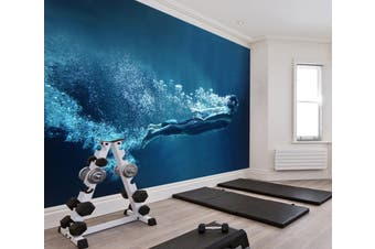 3D Submarine Diving 056 Wall Murals Woven paper (need glue), XXL 312cm x 219cm (WxH)(123''x87'')