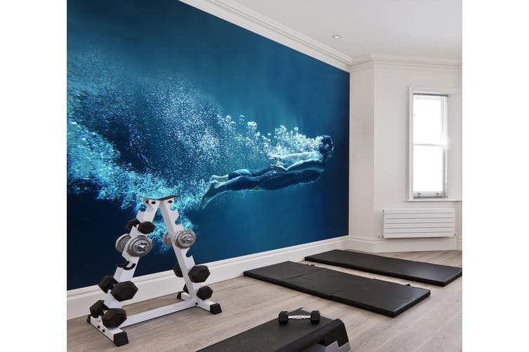 3D Submarine Diving 056 Wall Murals Woven paper (need glue), XXXL 416cm x 254cm (WxH)(164''x100'')