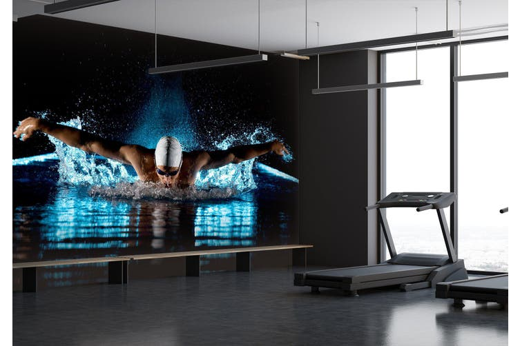 3D Swimming 055 Wall Murals Woven paper (need glue), XXXXL 520cm x 290cm (WxH)(205''x114'')