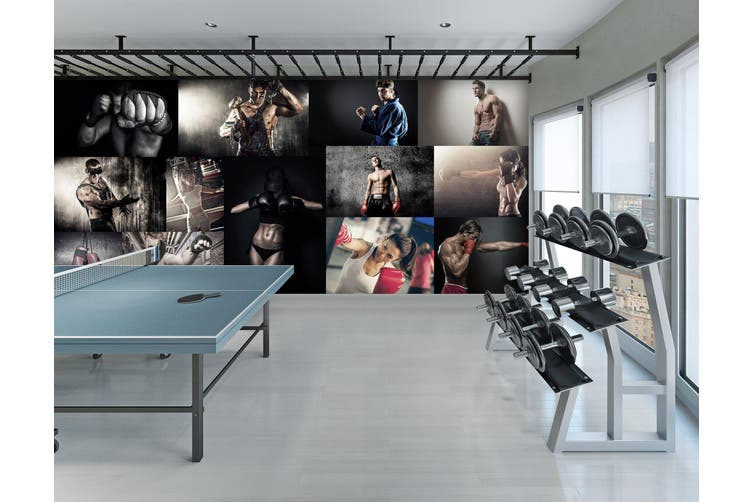 3D Work Out 053 Wall Murals Woven paper (need glue), XXXXL 520cm x 290cm (WxH)(205''x114'')