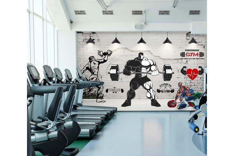 3D Men'S Barbell 050 Wall Murals Woven paper (need glue), XXXL 416cm x 254cm (WxH)(164''x100'')
