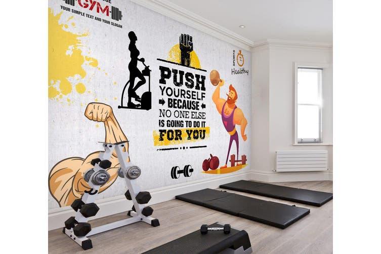 3D Fitness Equipment 049 Wall Murals Woven paper (need glue), XXXXL 520cm x 290cm (WxH)(205''x114'')