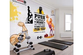 3D Fitness Equipment 049 Wall Murals Self-adhesive Vinyl, XL 208cm x 146cm (WxH)(82''x58'')