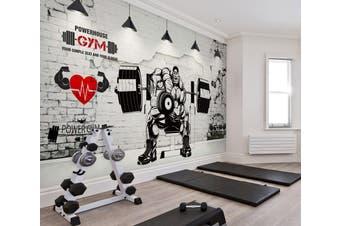 3D Muscle Barbell 047 Wall Murals Self-adhesive Vinyl, XXXXL 520cm x 290cm (WxH)(205''x114'')