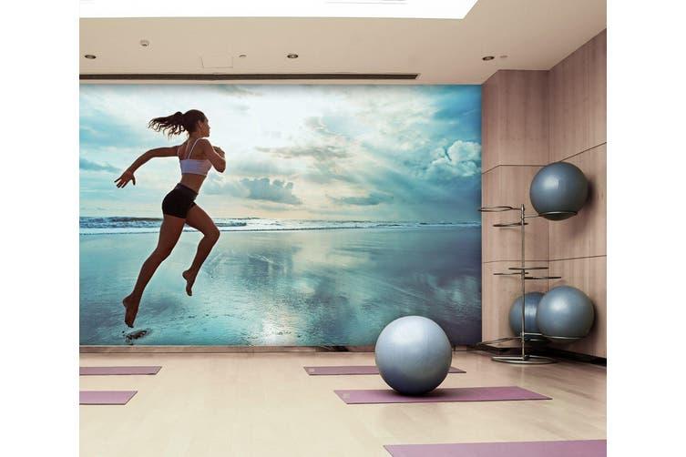 3D Beach Running 040 Wall Murals Self-adhesive Vinyl, XXXXL 520cm x 290cm (WxH)(205''x114'')