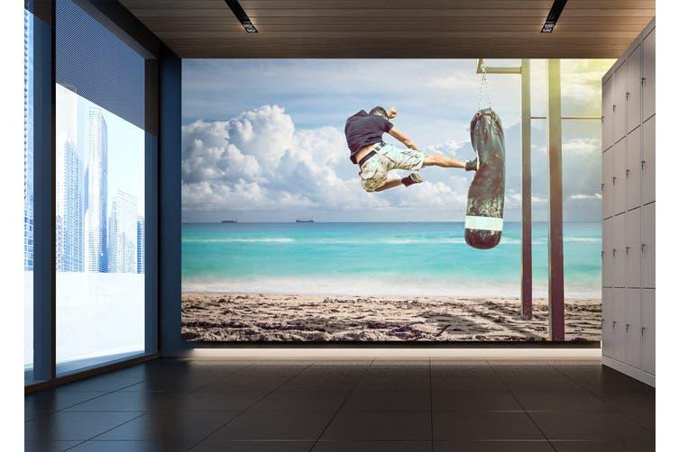 3D Skateboarding 037 Wall Murals Woven paper (need glue), XL 208cm x 146cm (WxH)(82''x58'')