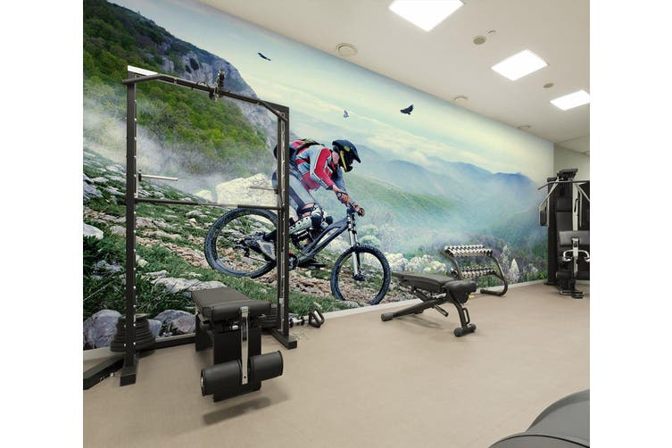 3D Mountain Bike 033 Wall Murals Woven paper (need glue), XXXXL 520cm x 290cm (WxH)(205''x114'')