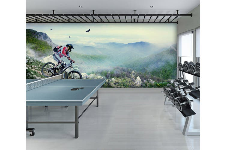 3D Mountain Bike 033 Wall Murals Self-adhesive Vinyl, XXL 312cm x 219cm (WxH)(123''x87'')
