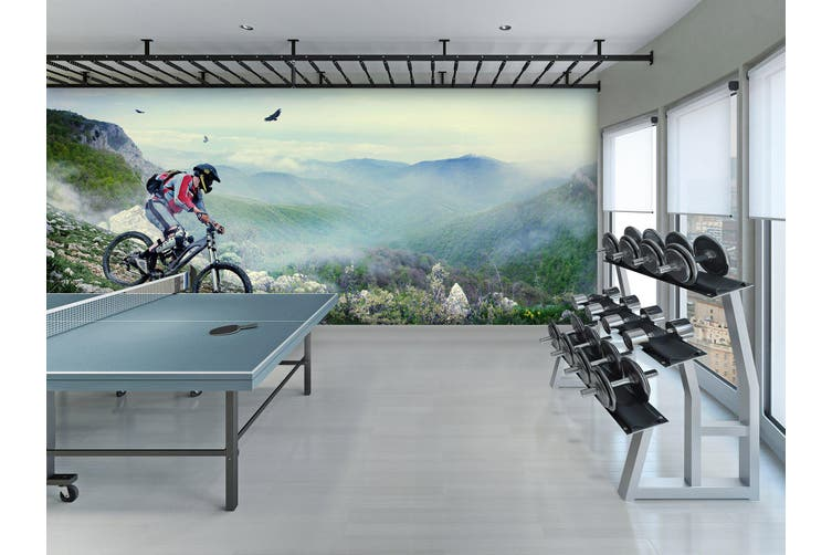 3D Mountain Bike 033 Wall Murals Self-adhesive Vinyl, XXXXL 520cm x 290cm (WxH)(205''x114'')