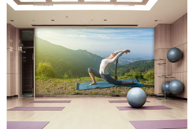 3D Morning Yoga 032 Wall Murals Woven paper (need glue), XXXXL 520cm x 290cm (WxH)(205''x114'')