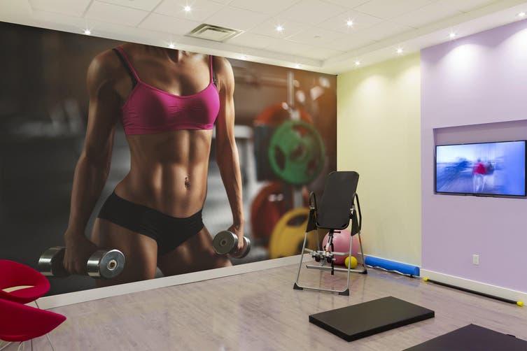 3D Fitness Girl 031 Wall Murals Woven paper (need glue), XXL 312cm x 219cm (WxH)(123''x87'')