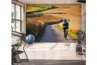 3D Ride A Bike 030 Wall Murals Woven paper (need glue), XL 208cm x 146cm (WxH)(82''x58'')