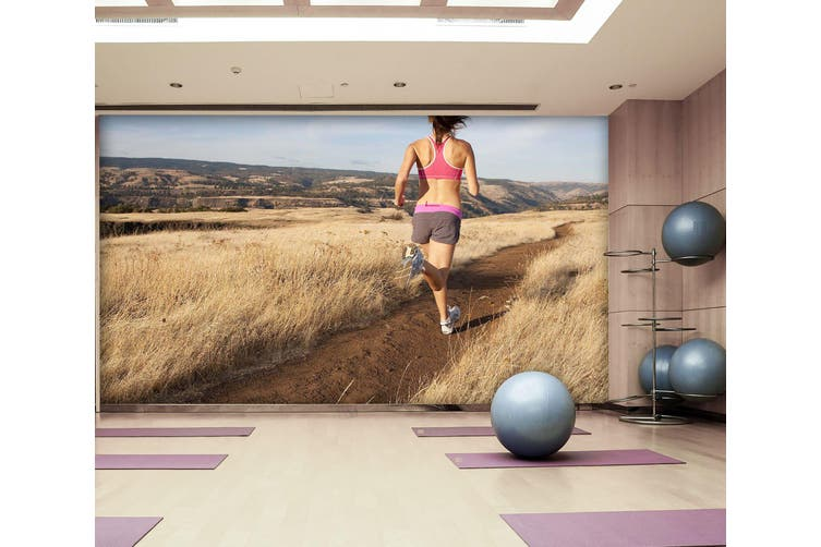 3D Sports Running 027 Wall Murals Woven paper (need glue), XL 208cm x 146cm (WxH)(82''x58'')