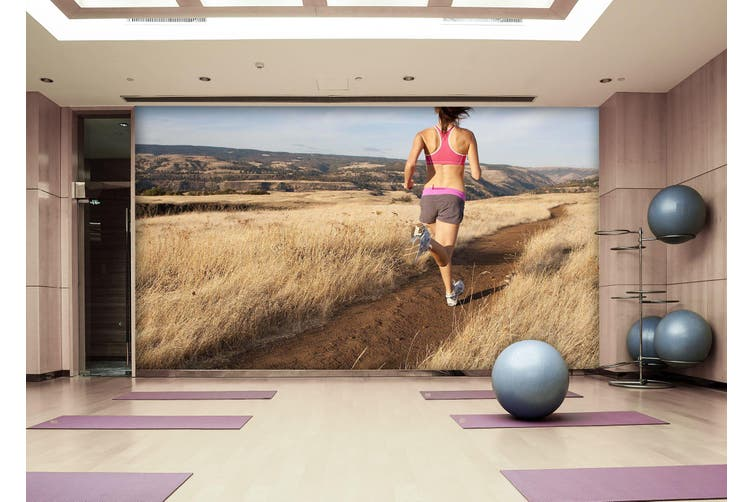 3D Sports Running 027 Wall Murals Woven paper (need glue), XXXXL 520cm x 290cm (WxH)(205''x114'')