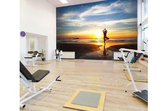 3D Sunset Yoga 026 Wall Murals Self-adhesive Vinyl, XXL 312cm x 219cm (WxH)(123''x87'')