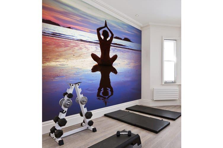 3D Yoga Pose 025 Wall Murals Woven paper (need glue), XXXXL 520cm x 290cm (WxH)(205''x114'')