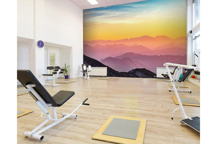 3D Sunset Valley 023 Wall Murals Woven paper (need glue), XL 208cm x 146cm (WxH)(82''x58'')