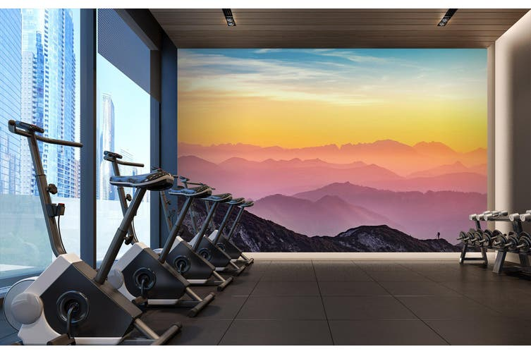 3D Sunset Valley 023 Wall Murals Self-adhesive Vinyl, XL 208cm x 146cm (WxH)(82''x58'')