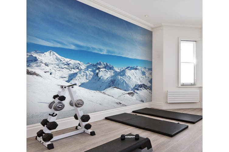 3D Snow Mountain 022 Wall Murals Woven paper (need glue), XL 208cm x 146cm (WxH)(82''x58'')