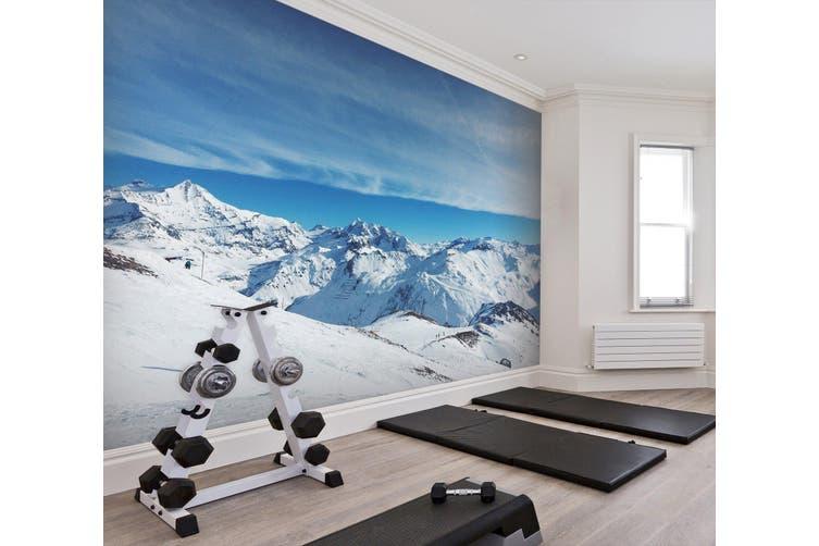 3D Snow Mountain 022 Wall Murals Woven paper (need glue), XXXXL 520cm x 290cm (WxH)(205''x114'')