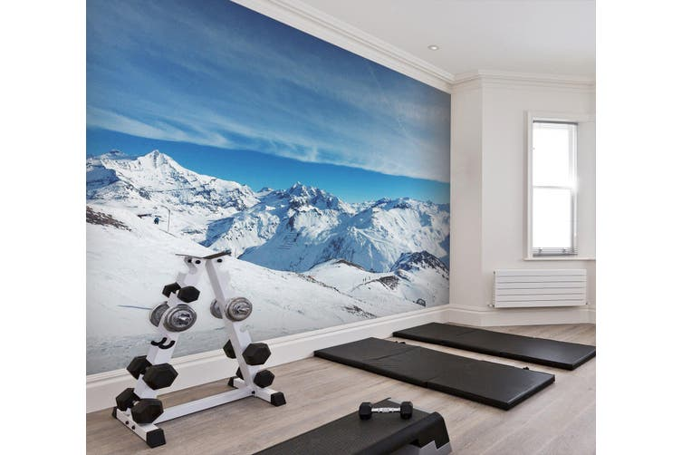 3D Snow Mountain 022 Wall Murals Self-adhesive Vinyl, XXXXL 520cm x 290cm (WxH)(205''x114'')