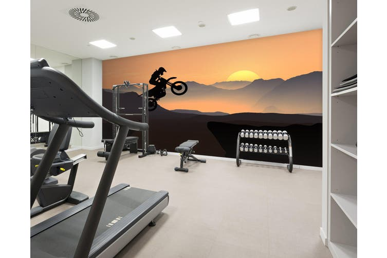 3D Mountain Bike 021 Wall Murals Woven paper (need glue), XXL 312cm x 219cm (WxH)(123''x87'')