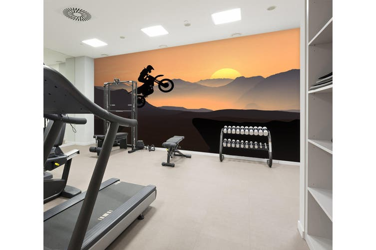 3D Mountain Bike 021 Wall Murals Self-adhesive Vinyl, XL 208cm x 146cm (WxH)(82''x58'')