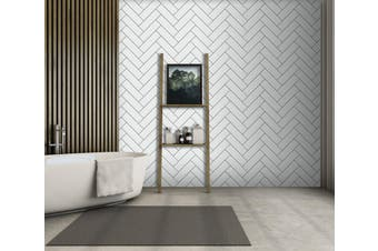 3D White Rectangle 039 Marble Tile Texture Self-adhesive Vinyl Wallpaper Murals