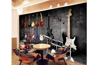 3D Guitar 230 Wall Murals Self-adhesive Vinyl Wallpaper Murals