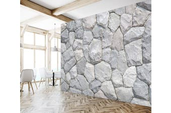 3D White Stone 1926 Wall Murals Self-adhesive Vinyl Wallpaper Murals