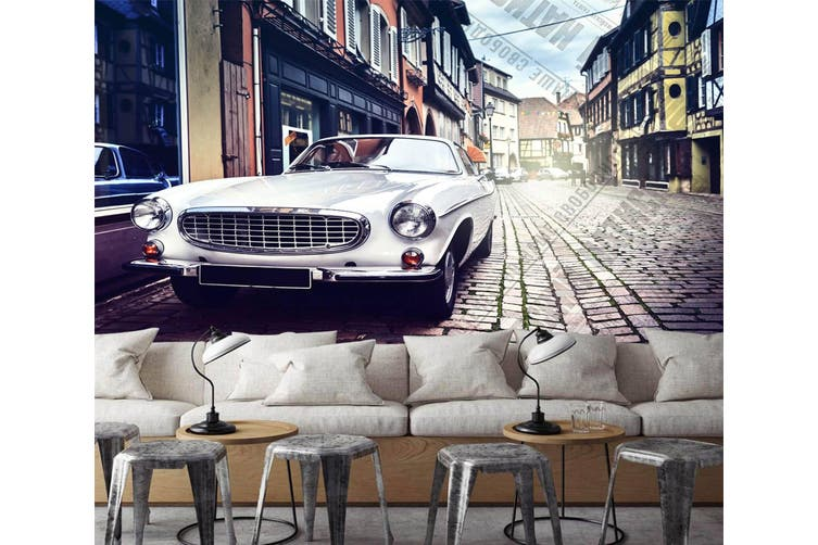 3D Intersection Luxury Car 557 Woven paper (need glue), XXL 312cm x 219cm (WxH)(123''x87'')