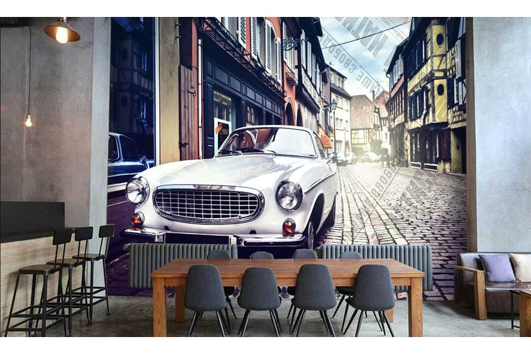 3D Intersection Luxury Car 557 Woven paper (need glue), XXXL 416cm x 254cm (WxH)(164''x100'')