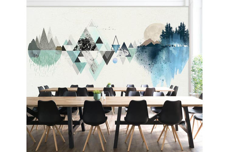 3D Triangle Painting 549 Woven paper (need glue), XL 208cm x 146cm (WxH)(82''x58'')