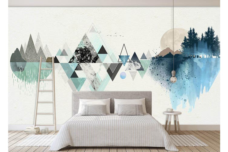 3D Triangle Painting 549 Woven paper (need glue), XXL 312cm x 219cm (WxH)(123''x87'')