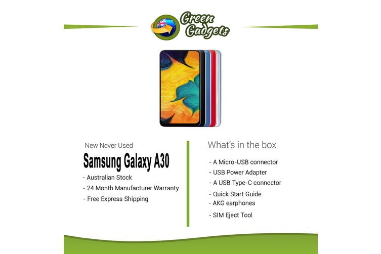 Samsung Galaxy A30 32GB Black New Never Used