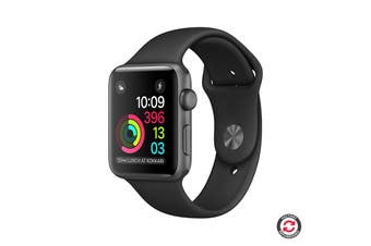 Apple Watch Series 3 Refurbished (Grey, Aluminium, 42mm, Sports Black, GPS + Only) - AB Grade