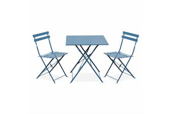 EMILIA -  Bistro Set 70cm Square Table Set Electrophoresis - Red
