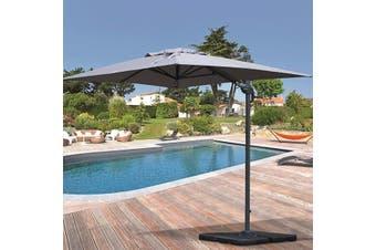 BISCAROSSE 2x3m Aluminium Cantilever Outdoor Umbrella with 360 Rotation Pedal | Grey