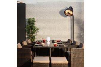 WICKER Bundle CALIGARI Lounge 5 Seater + VASTO 10 Seater Dining Set | Brown Wicker/Brown Cushions