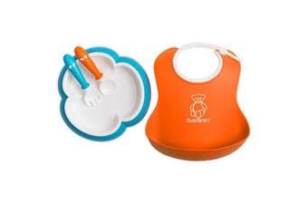 Babybjorn Baby Feeding Set - Orange-Turquoise