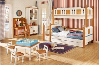 All 4 Kids North America Bunk Bed with Drawer