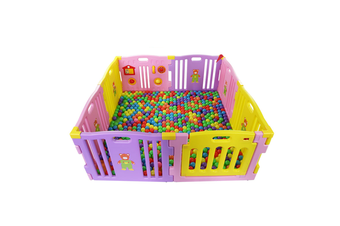 JOY BABY 8 PCs Plastic Playpen With Safety Gate - Purple