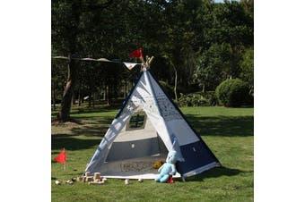 All 4 kids Large Cotton Canvas Kids Plane Pentagon Teepee Tent